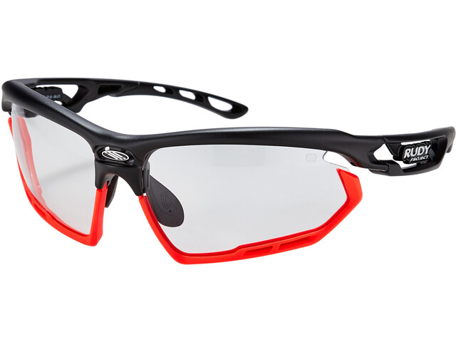 Rudy Project Fotonyk Brille black matte/bumpers red fluo impactX photochromic 2 black